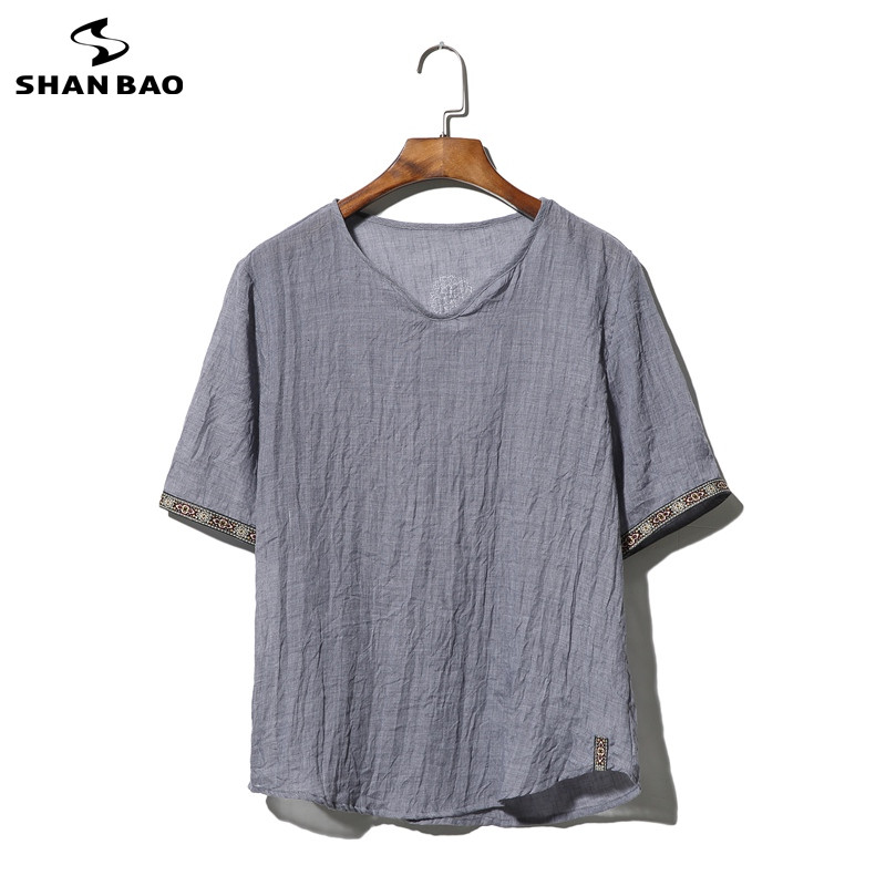 SHAO BAO brand clothing cotton and linen short-sleeved s