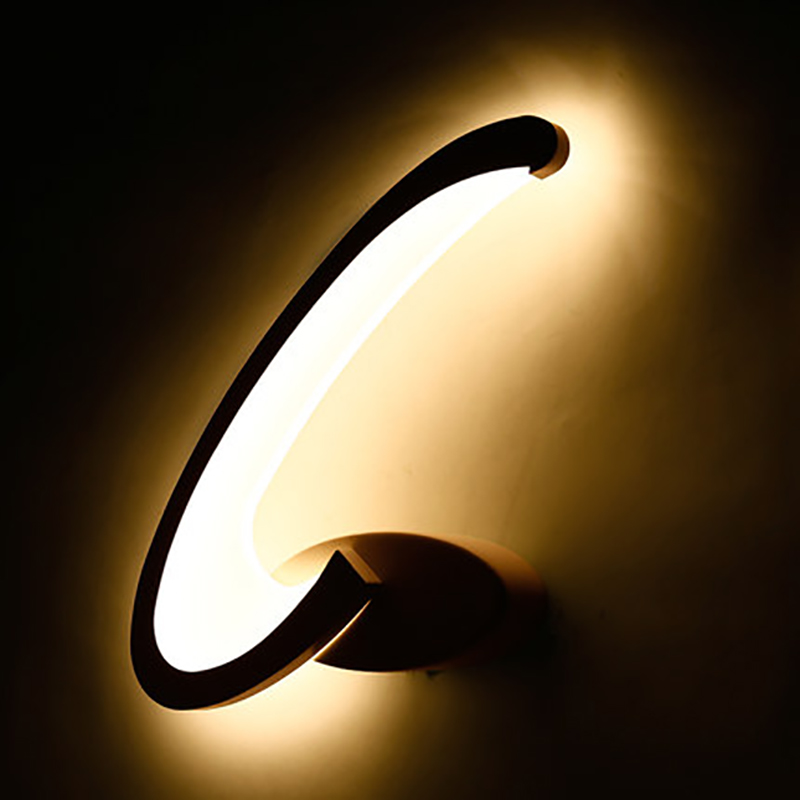 ФОТО 15W bedroom wall lighting bathroom wall lamps abajur luminaria front sconces modern acrylic wall light balcony bar aisle lamp