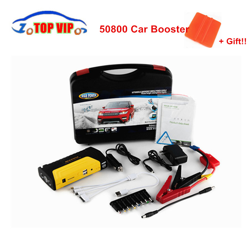 Best Price Multi-Function 12V Car Jump Starter Battery Charger Car Power Booster Laptop Rechargeable Battery + Carry Case