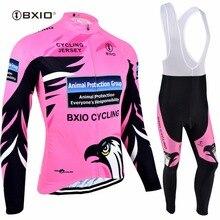 Bxio классный Орел велосипедные наборы для женщин Ropa Ciclismo Mujer Pro Горный зимний термальный флисовый велосипед одежда горячая Распродажа майки 067