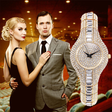 Alluring Crystal Bling Gold Watch