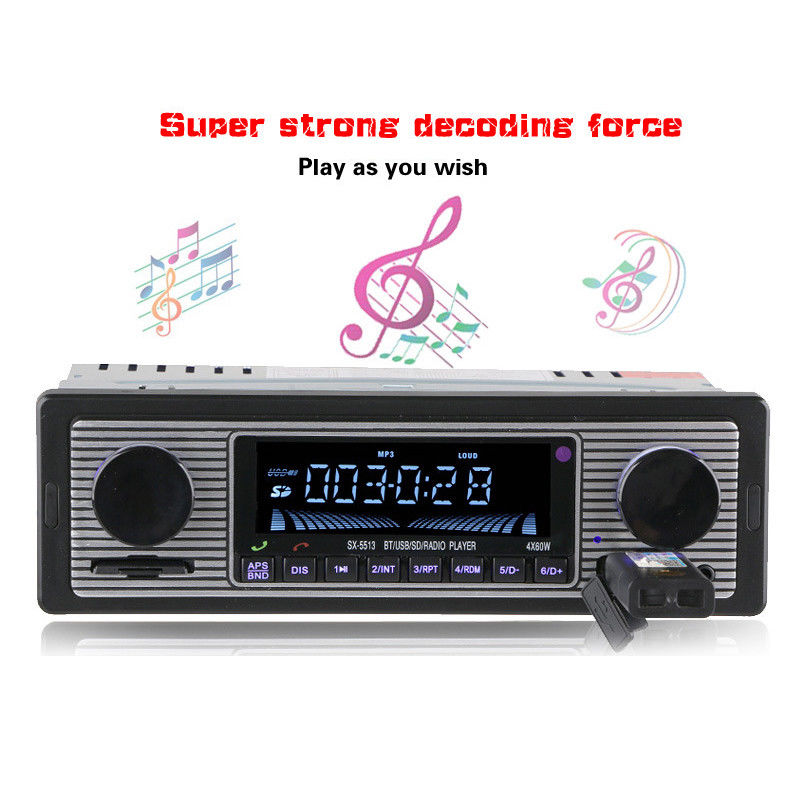 DC 12V ISO jack Bluetooth Autoradio Car Stereo Radio FM Aux Input Receiver SD USB AUX In-dash 1 din Car MP3 Multimedia Player image