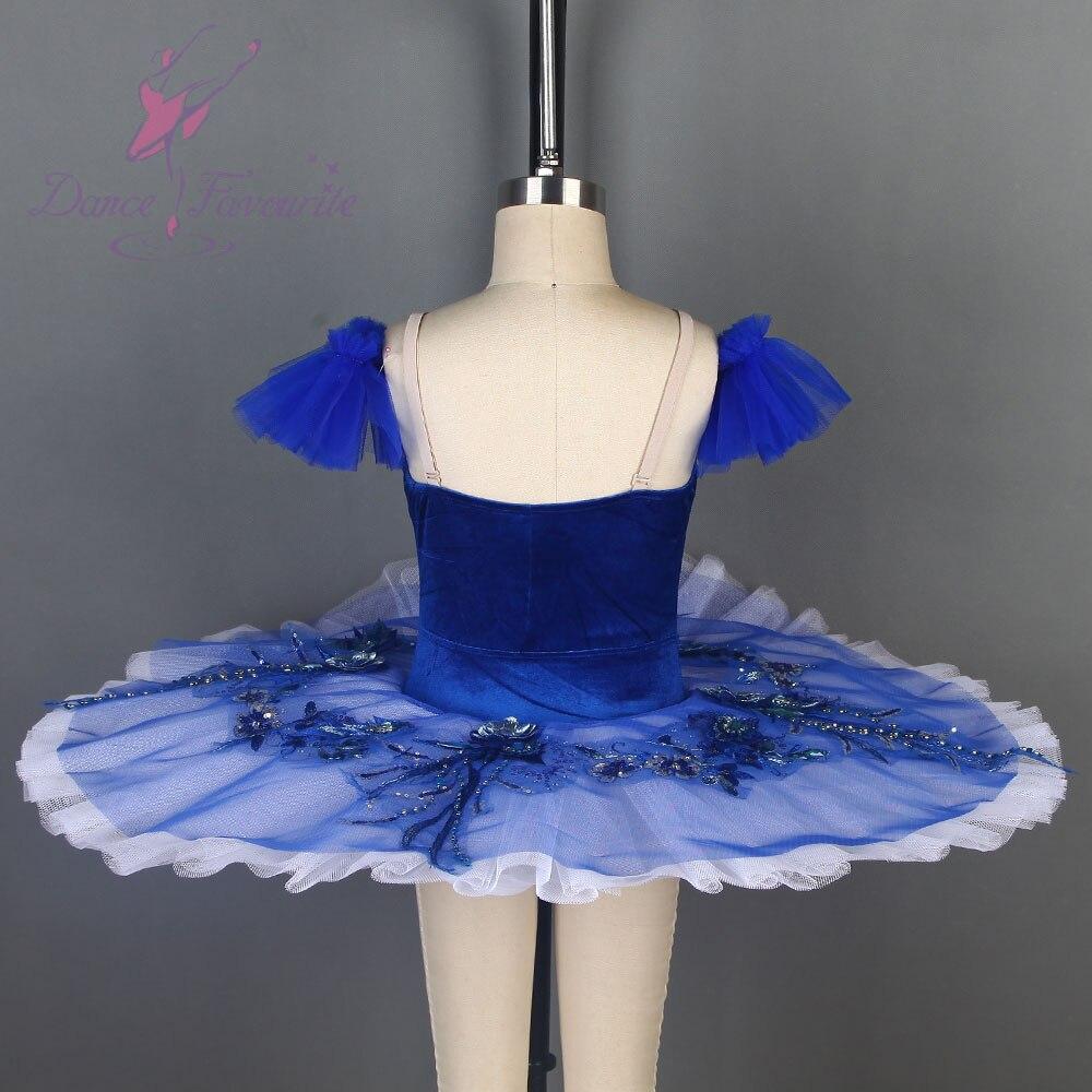 Samt Blau Vogel Ballett Tutu Schwarz Schwan Ballett Tutu Pre professionelle Ballett Tutu Für Wettbewerb Oder Leistung Dance Kostüme - 2