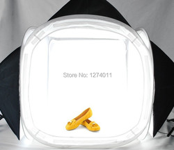Hot selling !! 120*120CM light softbox soft shed with 4 colors background cloth  feed shed light bulb for photography studio