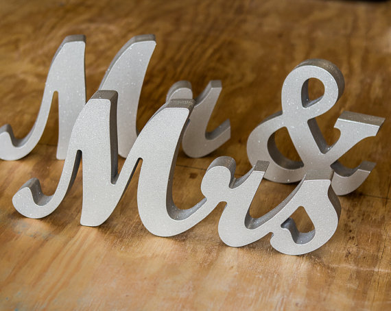 free shipping mr and mrs wedding signs for sweetheart table decor wooden letters large wooden