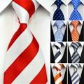 Acessórios Conjuntos Gravata de seda Gravatas dos homens Gravata para Os Homens Listrado Geométrica Homem de Negócios Gravata de Casamento Preto Vermelho Azul Branco amarelo