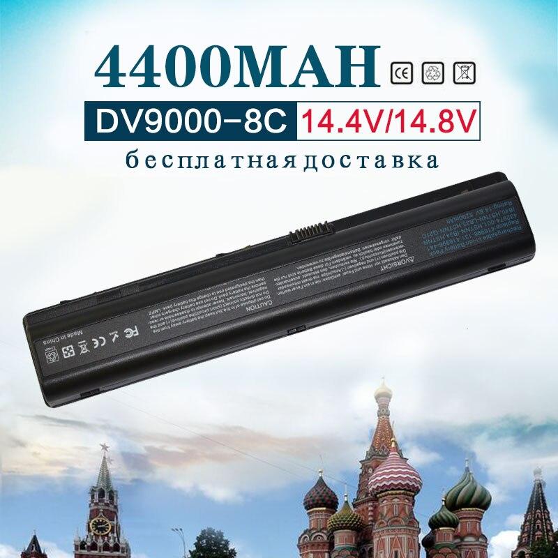 14.4V 4400MAh Battery For HP Pavilion DV9000 DV9100 DV9200 DV9500 DV9300  DV9600 DV9700 HSTNN-IB34 HSTNN-Q21C HSTNN-UB33