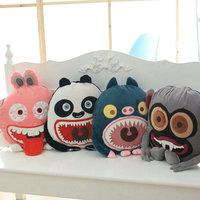 High Quality Monster Animals Pillow blanket Cushion Rabbit/panda/pig/monkey plush toys Christmas present kids toys