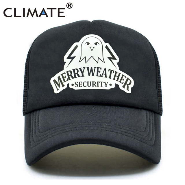 7afae7cf38bf2 CLIMATE Men Trucker Caps Hot Game Auto V 5 Cap New Merry Weather Security  Fans Caps