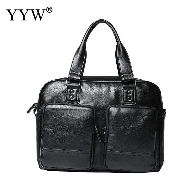 Large Capacity Men'S Executive Briefcase Business Male Bag Large Laptop Bags For Men Pu Leather Handbag A Case For Documents