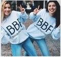 2016 New SexeMara H1218  New Autumn BBF Best Friend Print Harajuku Girlfriends Sweatshirt