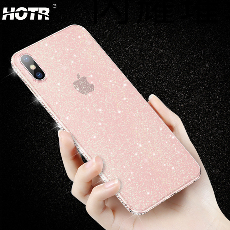 Shiny Bling Diamond Case For Iphone X Xs Xr Xs Max Soft Silicone Glitter Cover For Apple 6 6s 7 8 Plus Clear Tpu Gel Back Case Bright Luster