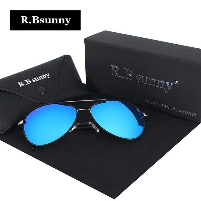 2017 New Brand fashion polarized sunglasses men Classic Retro Pilot Glasses Color Polaroid lenses Driving women sunglasses