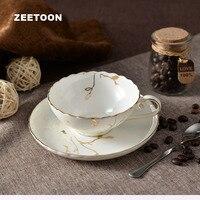 200 ml Européenne Royal Vintage Tasse de Café Mis En Porcelaine Céramique Café Ensemble Tasse De Thé Soucoupe Peint À La Main Fleur Après-Midi Thé tasses