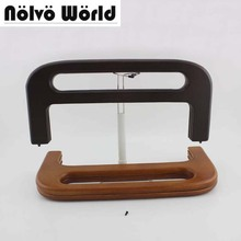 32X14cm 2 Colors Big Wood Frame For Lady Retro Knit Purse Bags Handle Frame, Making