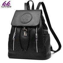KAKINSU Fashion Leather Backpack Women Bags Preppy Style Backpack Girls School Bags Zipper Shoulder Women's Back Pack