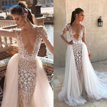 CLOUDS IMPRESSION Sexy 2019 Mermaid Wedding Dress