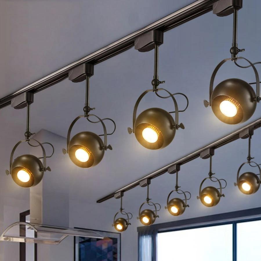 Modern Creative LED Track Lights 9/9/19/W Kitchen Track Lamps Adjustable  Light Cafe Bar Colthing Shop Rail Spotlights