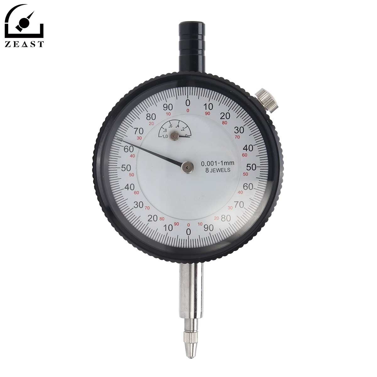 Micron Dial Gauge Test Indicator Precision 0-1mm 0.001mm Indicators Tool 40112302 dial test indicator precision metric with dovetail rails