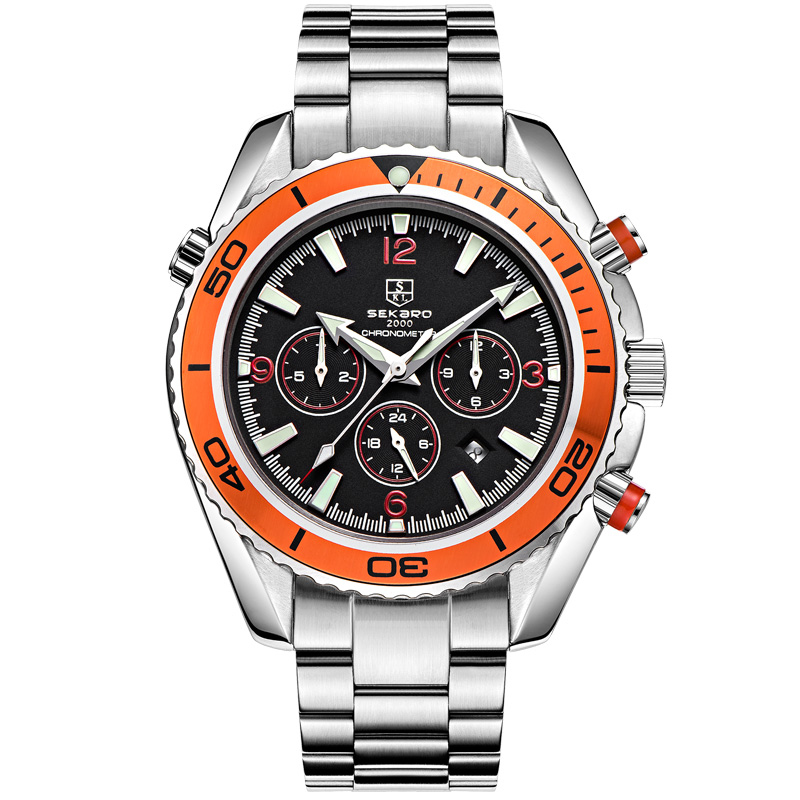 SEKARO 6078 Switzerland watches men luxury brand automatic mechanical diver luminous master sports stainless steel sekaro 8048 switzerland watches men luxury brand automatic mechanical authentic waterproof sports watch steel table business
