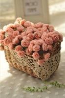 Pe różowy mini rose flower basket ustawić sztuczny kwiat sztuczne rośliny bonsai domu