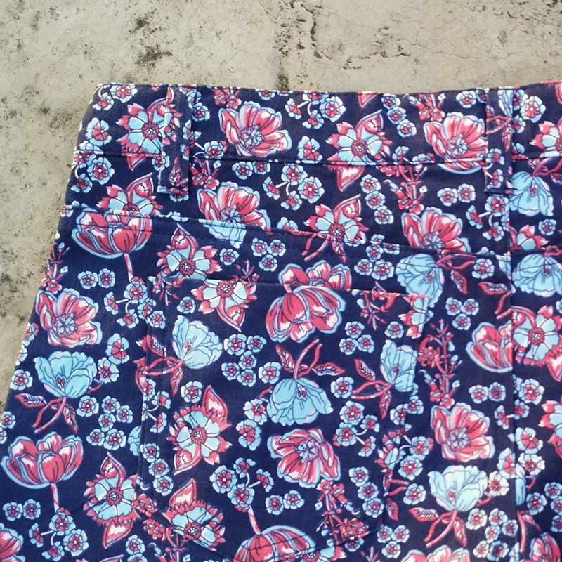 Jeans Feminino High Women Printing High Waisted Shorts Hot Pants Floral Wide Leg Running Pantaloncini Donna Bermuda Feminina