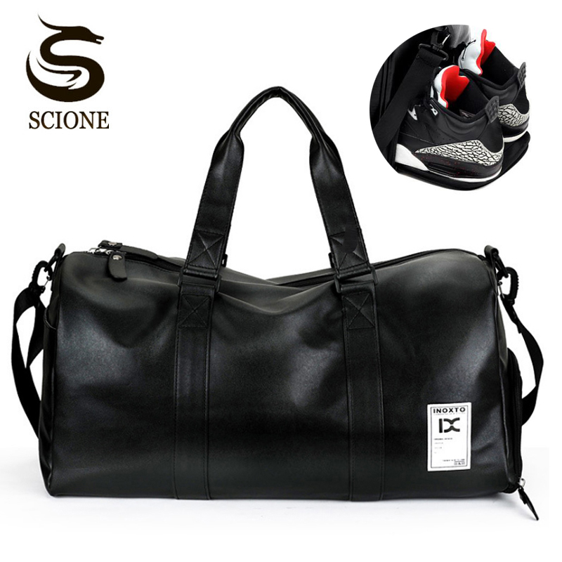 8a755a488 Hot Top PU Men Travel Handbag Carry on Luggage Bags Men Shoulder Duffel  Bags Travel Tote Large Weekend Bags Overnight