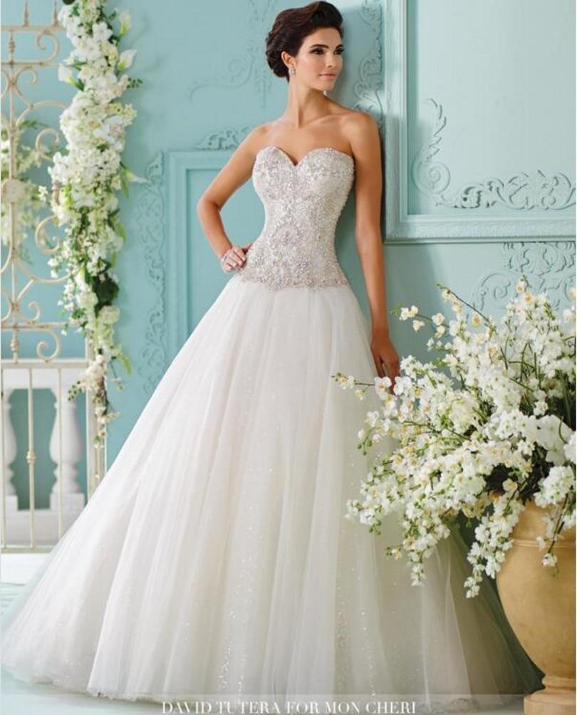 luxury unique design a line wedding dresses 2017 fairytale princess plus size bridal party gowns robe