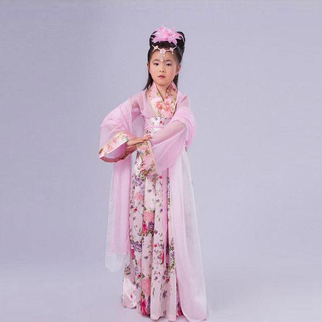 Traje para o traje tradicional chinês antigo hanfu roupas infantis meninas crianças cosplay vestidos de dança trajes Da Dinastia Tang