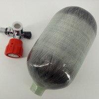 Acecare Новая мода 2L 4500PSI 300bar Пейнтбол PCP бак HPA углерода волокно Cyliner для Airsoft стрельба с насосом пополнения и клапан