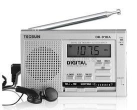 TECSUN DR-910 Digital FM, MW, SW World Band Radio 5pcs pocket radio 9k portable dsp fm mw sw receiver emergency radio digital alarm clock automatic search radio station y4408