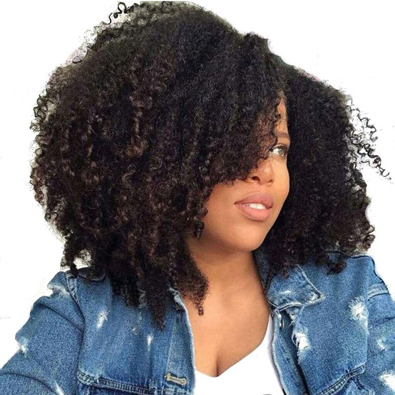 Peruvian Afro Kinky Curly Hair Bulk Human Braiding Hair ... - photo #29