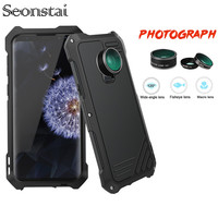 For Samsung Galaxy S9 S8 Plus Case Wide angle Fisheye Macro Lens Shockproof Metal Aluminum Armor Cover for Galaxy S7edge Coque