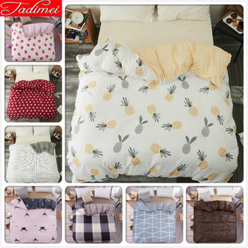 Pineapple Pattern 1 piece Duvet Cover Adult Kids Child Soft Cotton Quilt Comforter Case Bedding Bag Single Twin Queen King Size