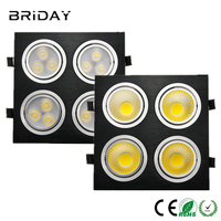 10x Super Bright Silver Square Dimmable Led Downlight Light COB Ceiling Spot Light 28w 40w 48w