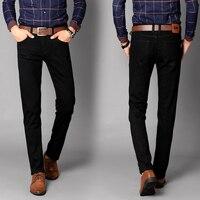 New Brand Men S Designer Black Jeans Stretch Casual Straight Denim Jeans Male Slim Fit Cotton