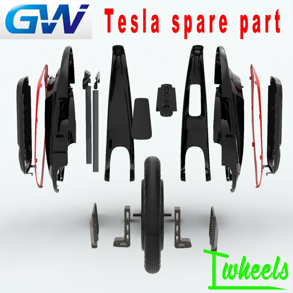 Original GotWay Tesla Electric Unicycle 16inch Tesla Spare Parts Motor Tyre Pedal Trolley Handle Shell Accessories