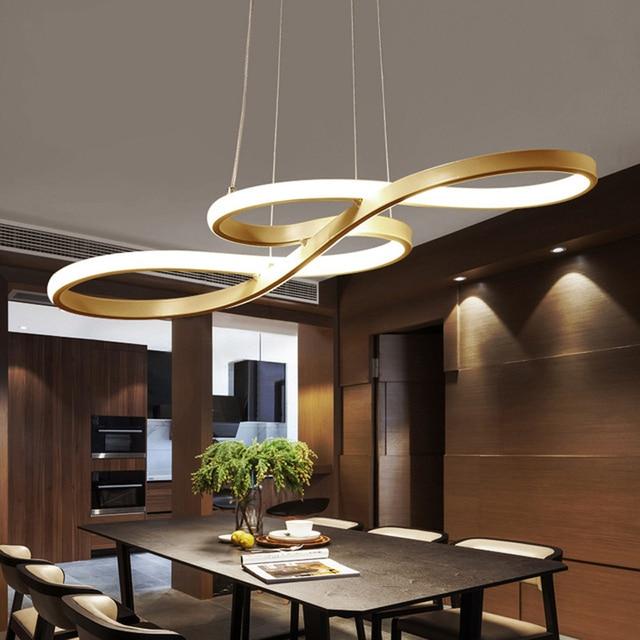 Minimalisme bricolage suspendu moderne LED lampes suspendues en plein air pour salle à manger barre pendentif lampe suspendu luminaire luminaire
