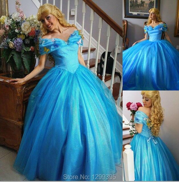 Tüll Custome Blau Ballkleider Blonde Prom Kleider 2015 Heißer ...