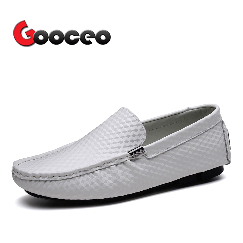 Mens Penny Loafers Driving Shoes Men Spring Summer Moccasins Flats Shoes Low-top Slip-On Patent Leather Light no-heel Casual