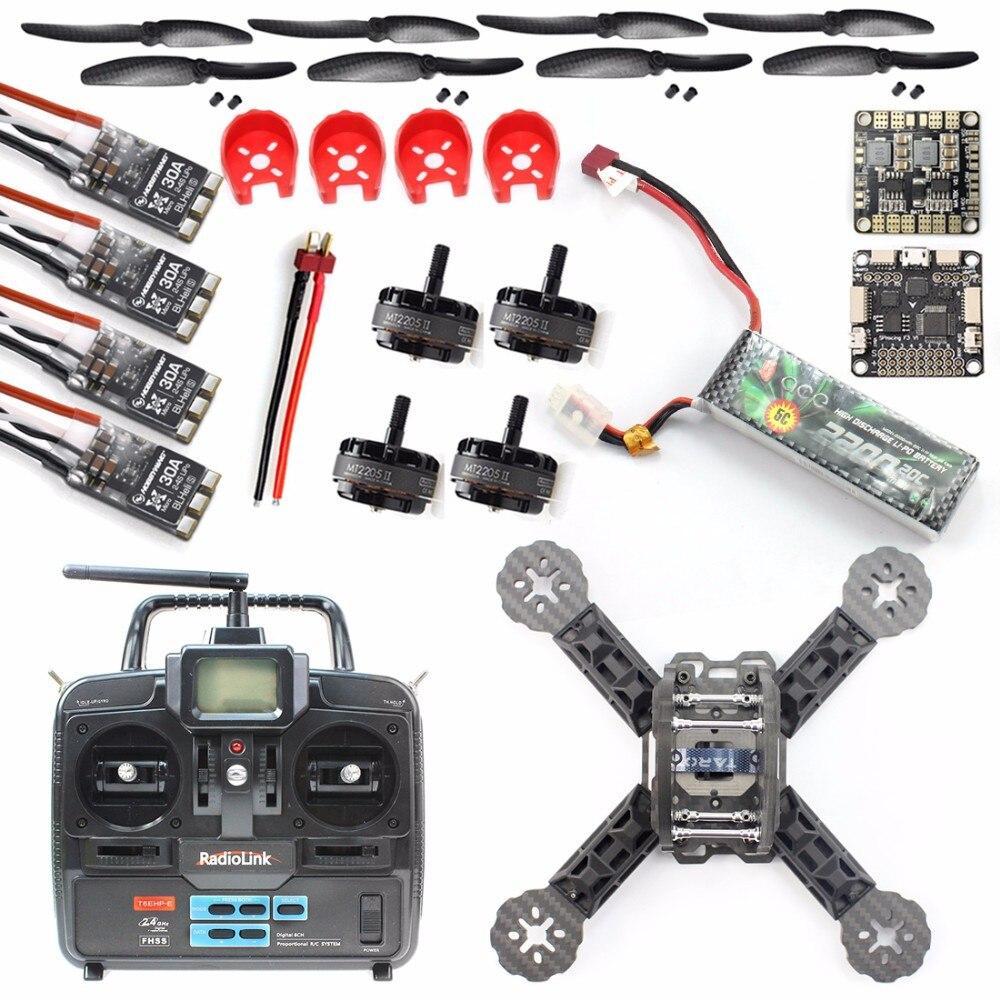 JMT DIY Toys 2.4G 6Ch 6 channel RC Controller Transmitter RC FPV Drone Mini Racer Quadcopter 190mm Carbon Fiber Racing Frame Kit