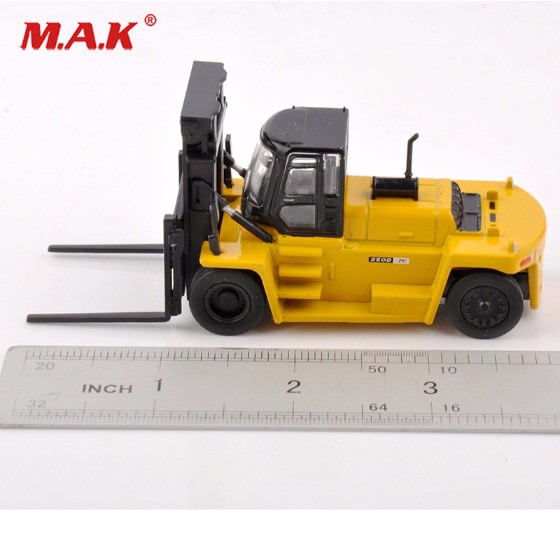 250D-7E Forklift Construction Diecast 1/87 Yellow Vehicles Car In Box Engineering Truck Vehicles Collection