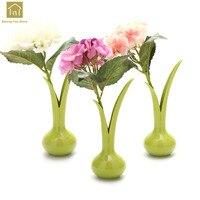Artificial Flower And Vase Set For Home Decoration Weddind Desktop Vase Flower Creative Flowers In A Vase Ornaments QAB121