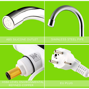 Image 5 - Electric Hot Faucet Water Heater Electric Tankless Water Heating Kitchen Faucet Digital Display Instant Water Tap 3000 W