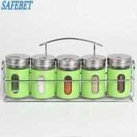 Creative Stainless Steel Spice Storage Jar Bottle Barbecue Seasoning Storage Shelves Kitchen Seasoning Necessities Storage Tool