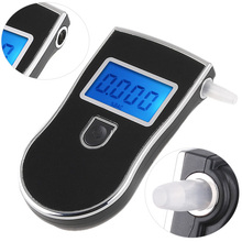 2017 New patent Protable Police Breathalyzer Analyzer Detector Digital LCD Alcohol Breath Tester AT-818 Free Shipping