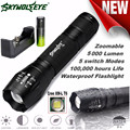 SKYWOLFEYE  X800 Tactical Flashlight LED Zoom Military Torch G700 Battery Charger L61216