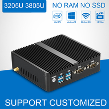 Оптовая Cutomized Mini PC Компьютер Двухъядерный 2 Г 4 Г 8 Г RAM Мини Настольный Компьютер Intel Celeron 3805U 3205U Windows 10/8/Linux