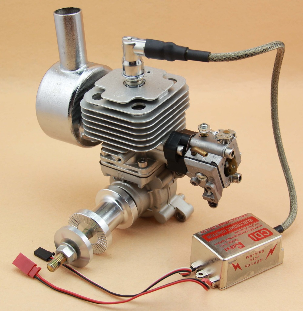 US $249 0 |RC Gas Engine 26cc QJ26 Motor two stroke engine with muffler &  CDI For RC AirPlane Plane Aircraft Fixed wing-in Parts & Accessories from
