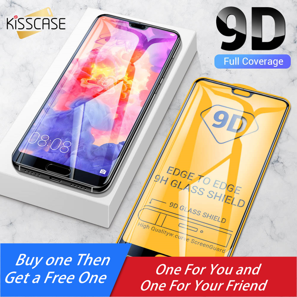 KISSCASE 9D Protective screen protector for Huawei P20 P10 mate 20 10 lite Ultra thin Tempered Glass on the for Honor 9 lite 8X